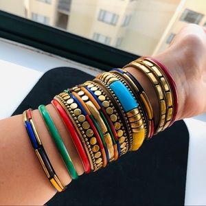 Lot 9 Multi Color India Style Boho Bangles 🇮🇳